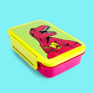 British Mustard Lunch Box - Tyrannosaurus is hungry