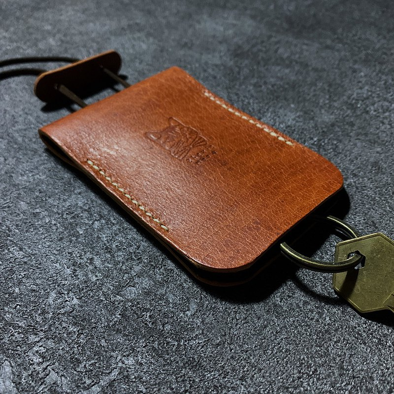 Deer leather key case [keys use this bag] Wenrun Orange