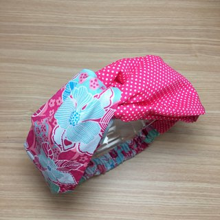 Summer hibiscus flower handmade cross hair band elastic hair band