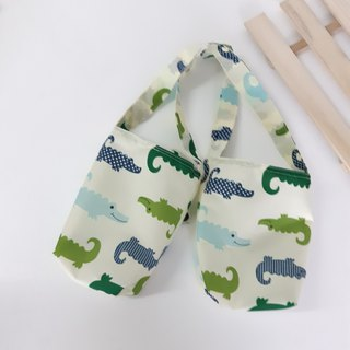 Valentine drink bag _ small crocodile 2 with environmentally friendly waterproof beverage bag _2 cup can be 1 cup _ environmentally friendly small things