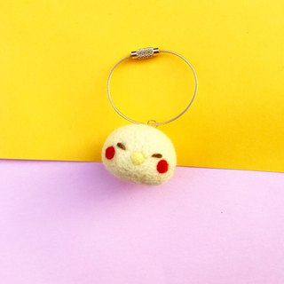 Wool felt chicken dumplings key ring bag ornaments ornaments