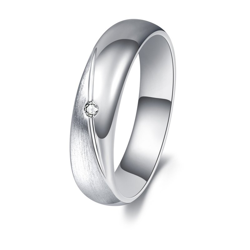 Diamond with 316L Stainless Steel Ring Casting Jewelry for Male