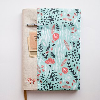 Botanical Springtime - adjustable A5 fabric bookcover