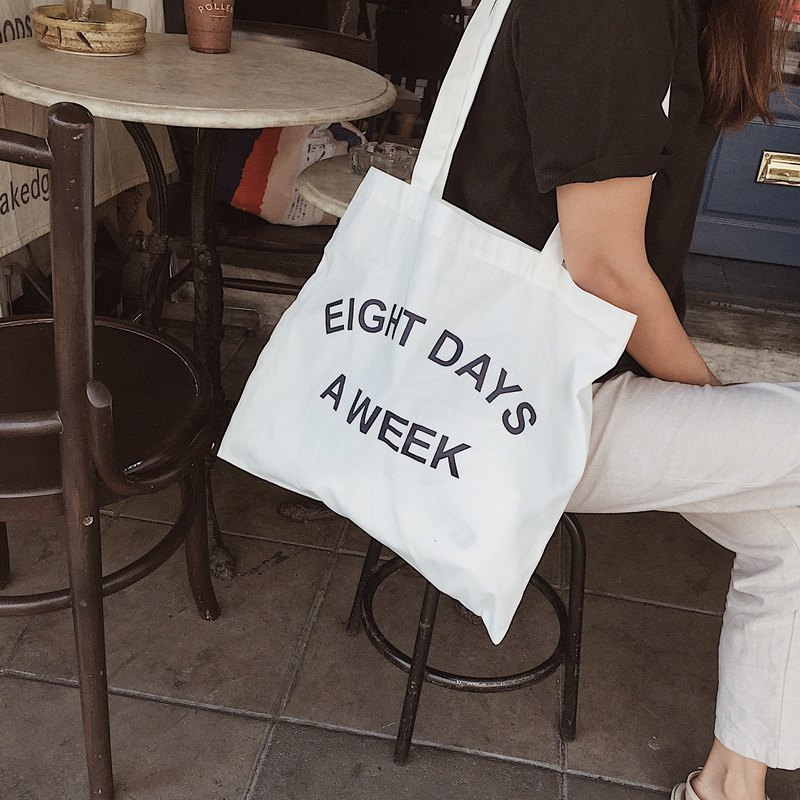 Eight Days - Tote (White)