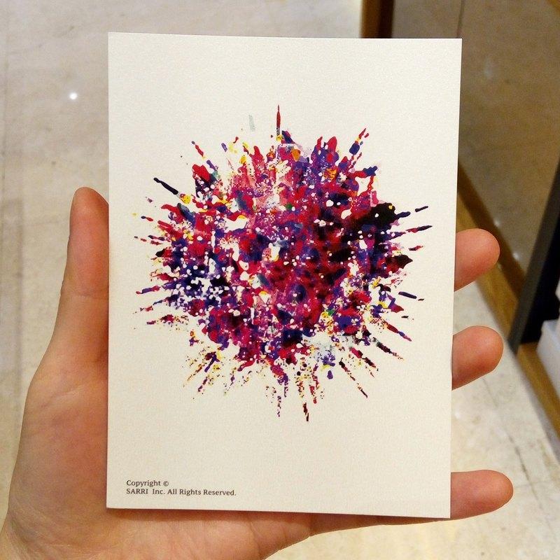 Big Bang Postcard Birthday Card Design Coloring Illustration Drawings Universal Art Fine Arts Modern Lovers Love Special Interesting Weird