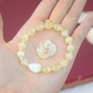 Little White Leaf Handmade Bracelet