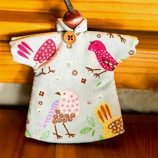 Le Sew than the rabbit LoveRabbit- green birds creak Wallets - can house keys, clothes modeling, birds, green