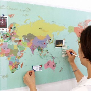 indimap world map poster (double) -05 color version (limited delivery), IDG70268