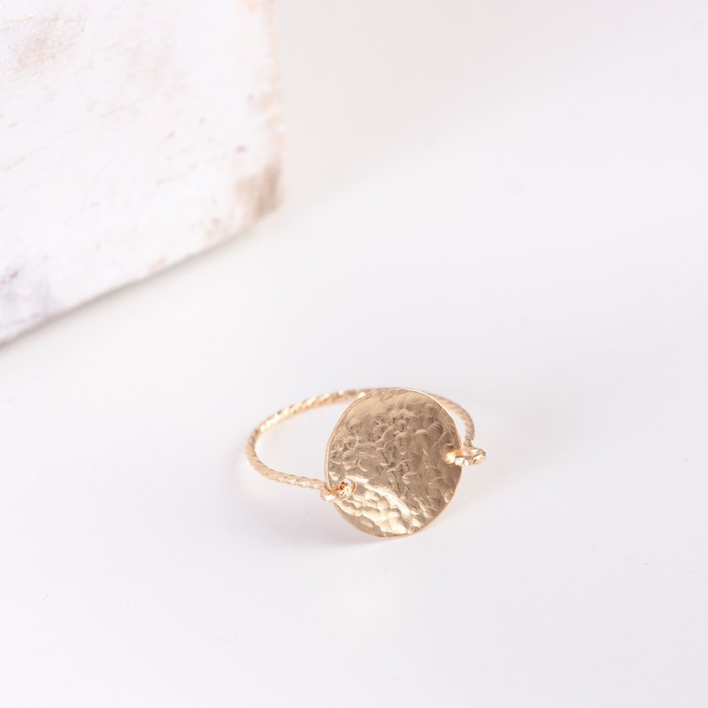 ANDORRA ring in 14k gold filled, Minimalist ring, Hammered golden ring