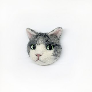 [exclusive order] wool felt cat pin