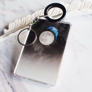 Dolphin on a Full Moon - Cardholder