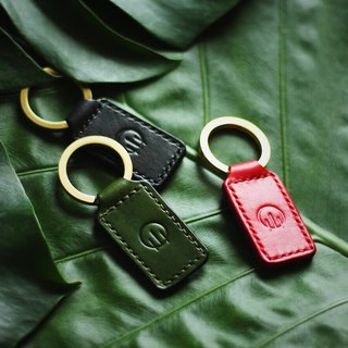 HUANGS 艸一田人-European imported vegetable tanned leather handmade key ring, key case, charm