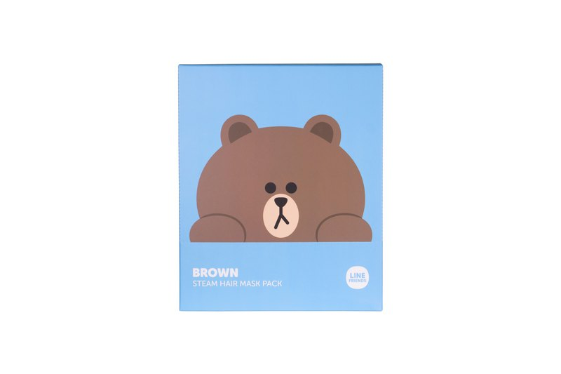 LINE FRIENDS BROWN steam hair mask (1 Box 5 pieces)