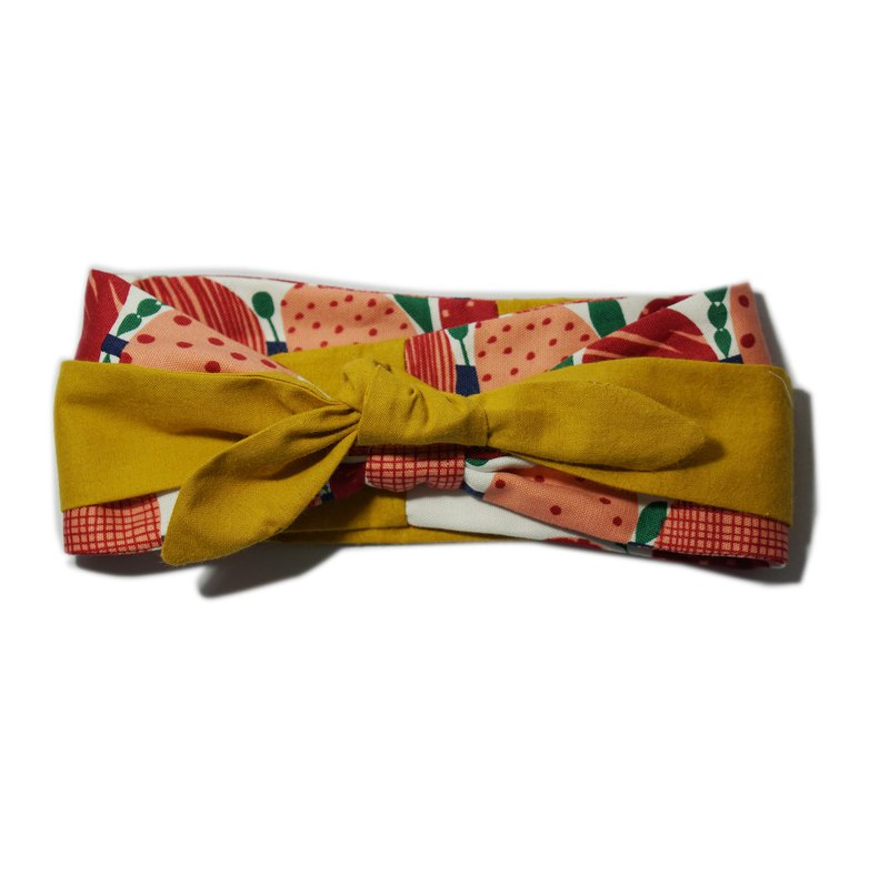 Deer Lita shop owner to recommend Japanese cotton and linen red apple yellow hair band multi-purpose tie leading towel headband