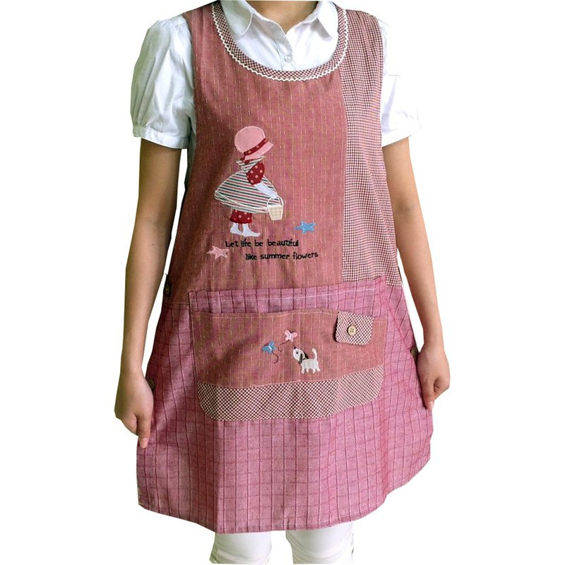 [BEAR BOY] basket girl apron - red (side buckle)