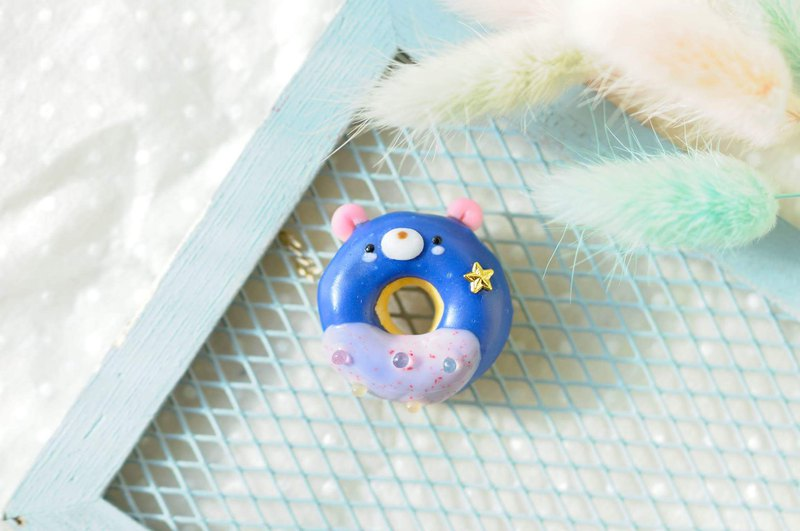 :│Sweet Dream│: Mini Donuts + Blue Sky Bear + Keyring / Dust Plug / Bag Ornaments / Gifts