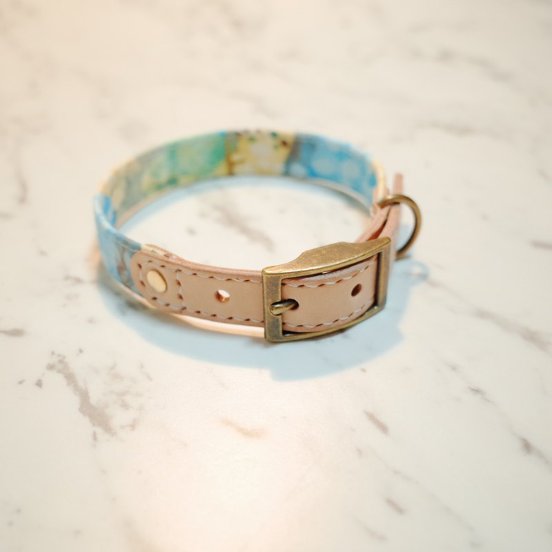 Dog Collars, M size, Grey dots_DCJ190724