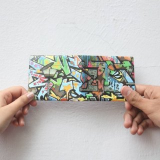 Supervek street graffiti hand-made paper wallet / wallet / short clip Tyvek environmental protection material waterproof tear
