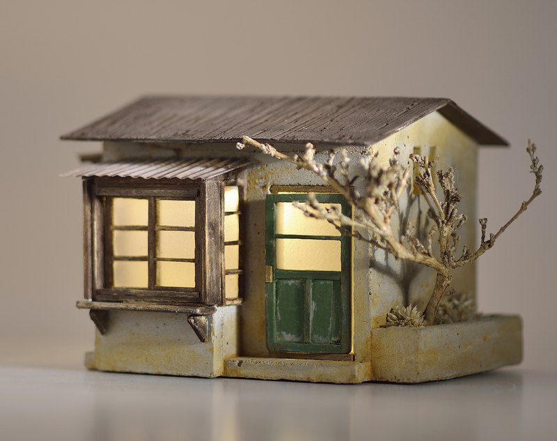 Cement old house creation-small cottage old house (custom)