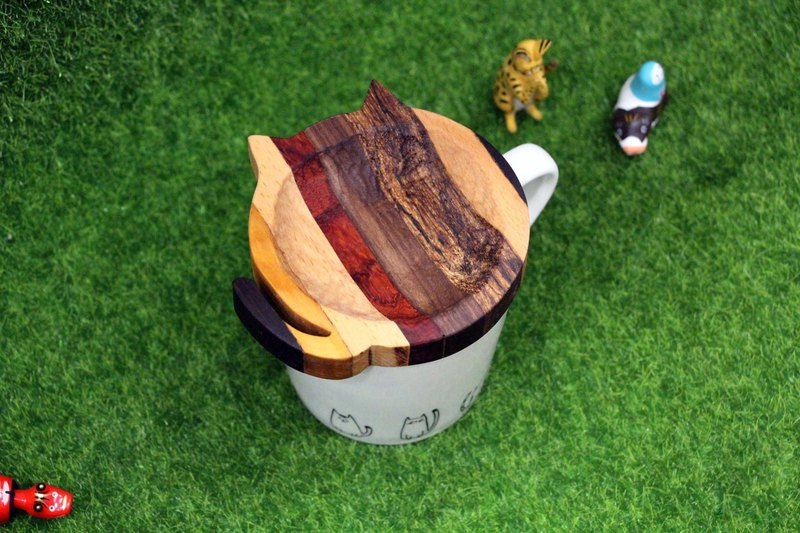 Wooden wooden log mosaic cup cover coaster small plate handmade