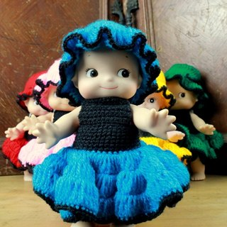 Small turtle Ge Ge - cute weave dress small Q than - dark blue