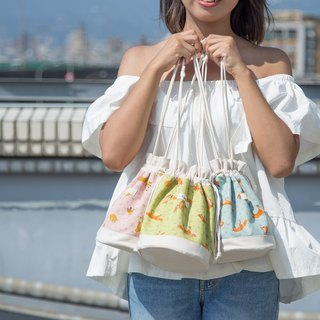 little foxes / Japanese Cotton print / Shoulder bag  crossbodies  bucket bag