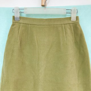 Skirt / Yellow Green Straight Skirt