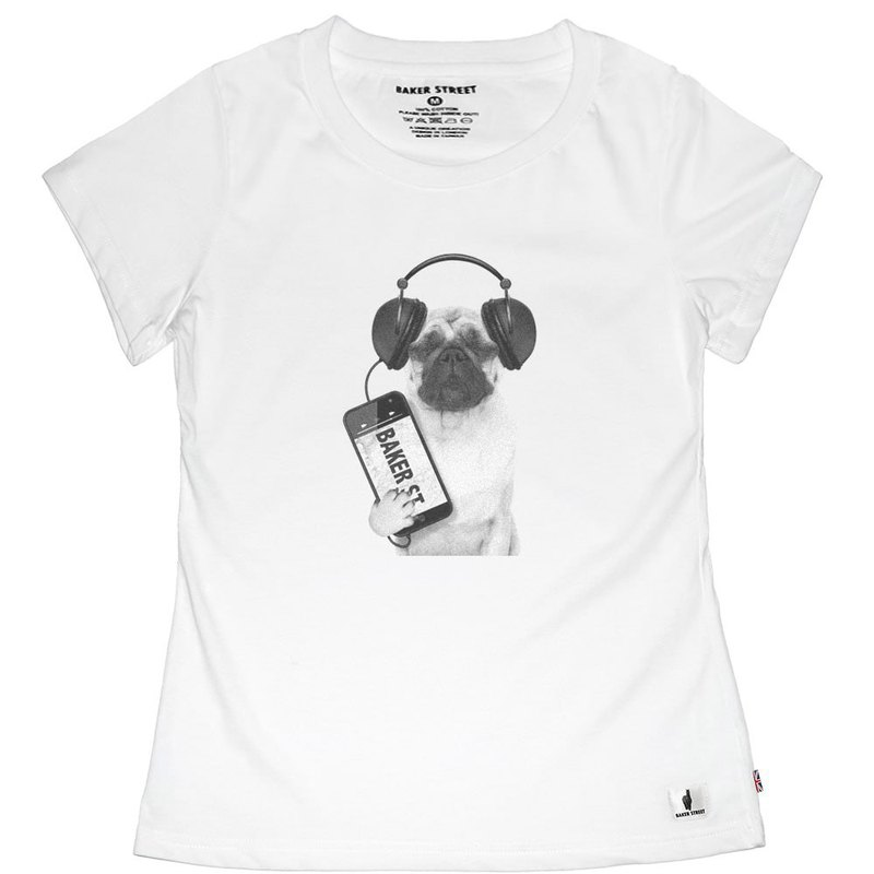 British Fashion Brand -Baker Street- Swag Bulldog T-shirt
