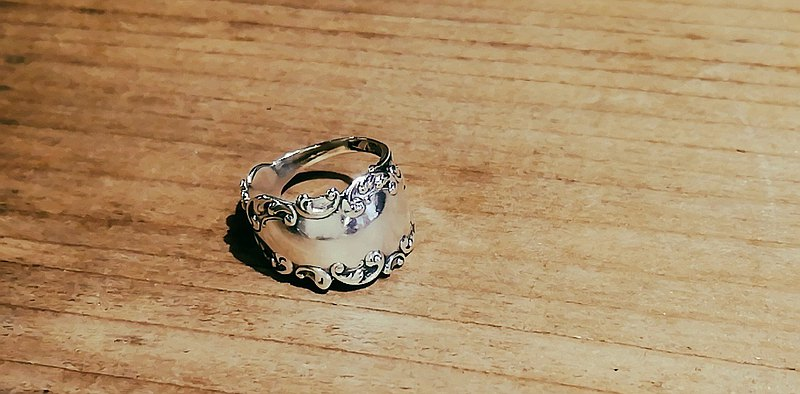 Antique spoon remake ring_531