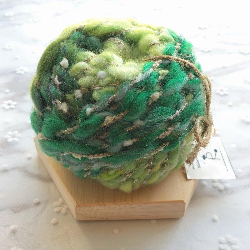 森林綠手捻線/手紡線/手作線材/毛線/DIY材料/材料包/手作材料包