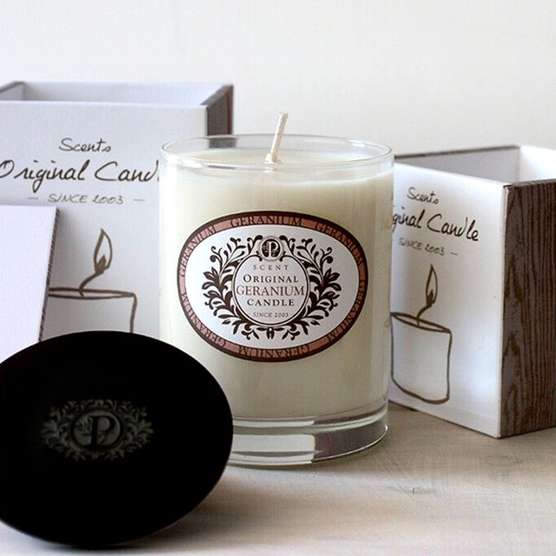 Elegant Floral Notes │ Geranium Garden Pure Plant Soy Wax Oil Candle