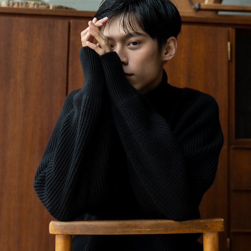 hao Black Turtleneck Sweater Black Turtleneck Sweater