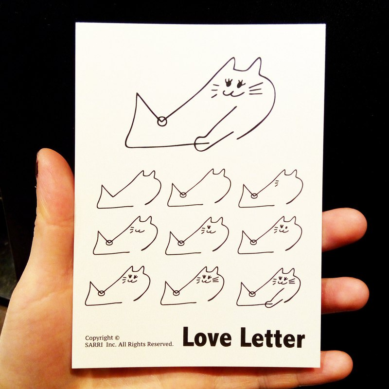 LOVE LETTER (A3 size poster) Birthday Card Design Illustration Picture Card Universal Card Art Modern Valentine Love Special Funny Strange Character Cute Cute Taiwan bizarre