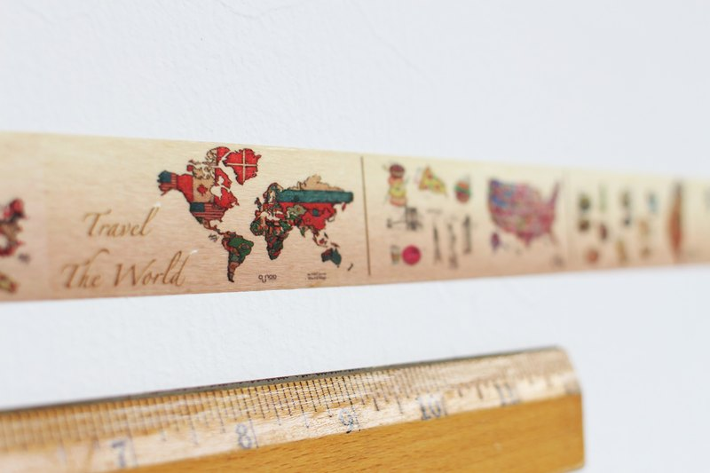 City Travel Washi Tape - World Map