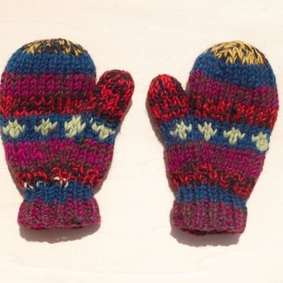 Limited edition knitted pure wool warm gloves / children's gloves / child gloves / bristles gloves / knitted gloves / boxing gloves - Eastern Europe mixed color gradient stripes