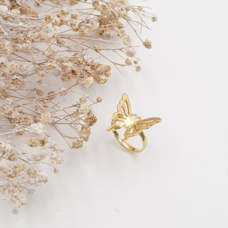✦ Dream Butterfly ✦ Butterfly ✦ Copper Plating ✦ Gold ✦ Ring