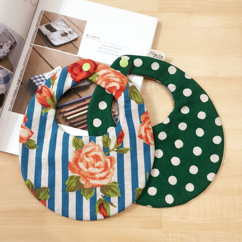 [Miya ko. groceries hand made] bib pocket six heavy yarn baby bib shape bib hand made bib