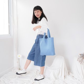 Casual Linen Tote Bag (Air Force Blue)