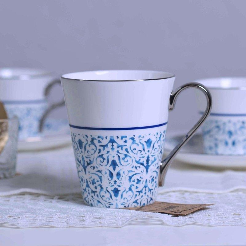 藍韵白金骨瓷馬克杯