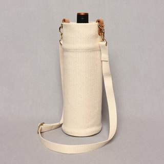 Kettle bag beverage bag mug bag wine bag - cotton white / shoulder