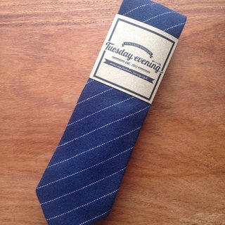 Neck Tie Navy Blue Stripe