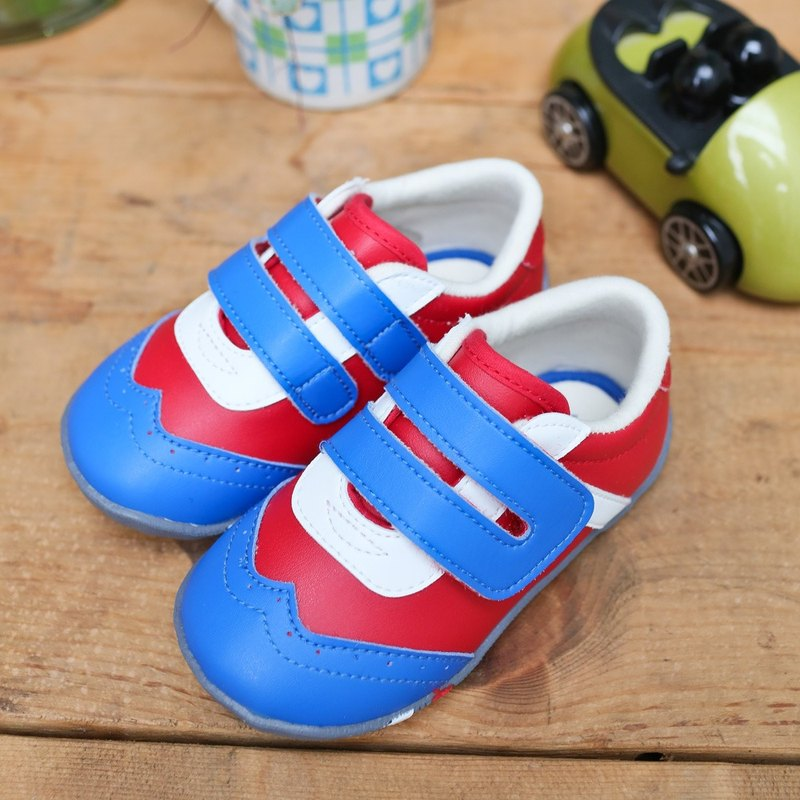 Adam red blue and white baby shoes No. 12