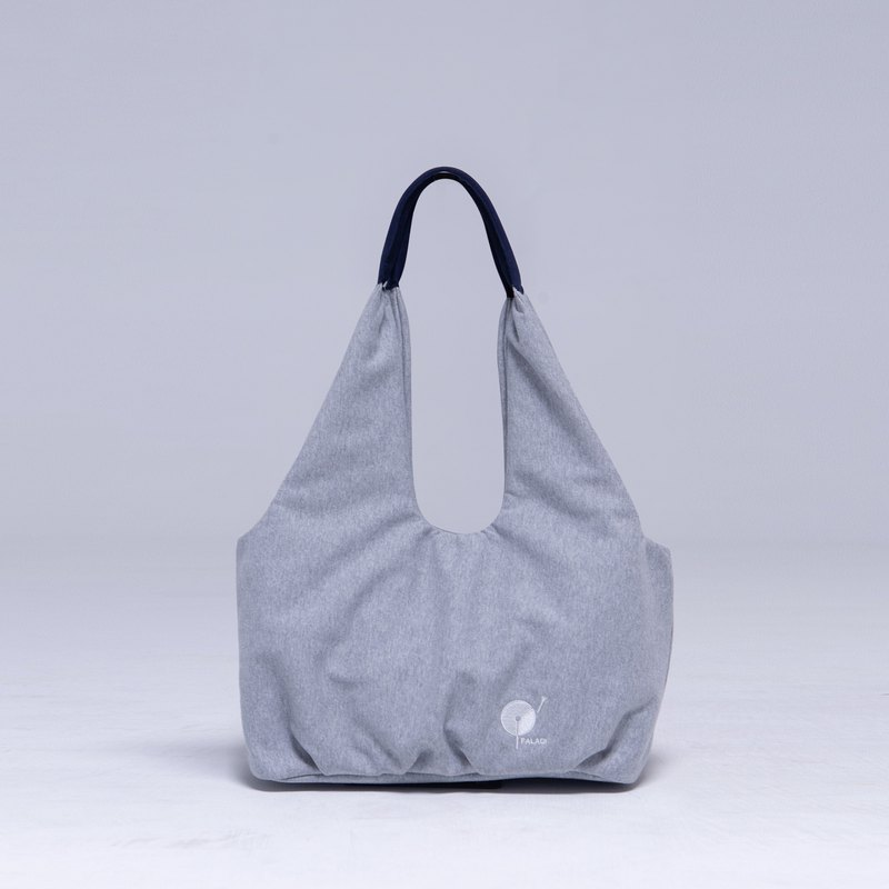 Lithe Japan Ultrasuede Environmental Super Fiber Soft Shoulder Bag Twist Grey