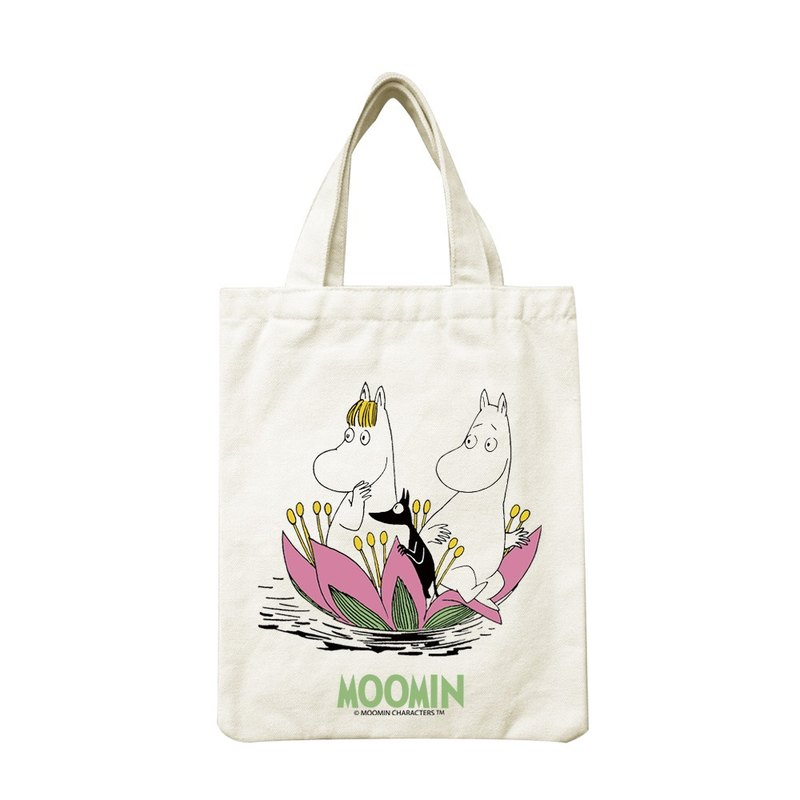 Moomin Lulu meters authorized - portable canvas bag: [lotus pool side play], CA1AE03