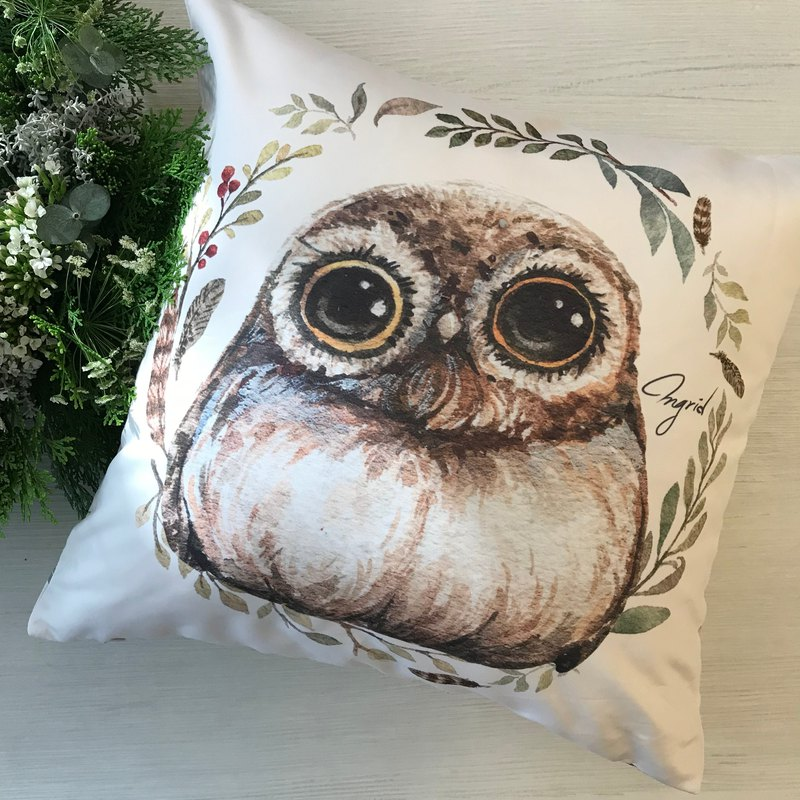 Forest Department Pillow - Innocent Owl Loves