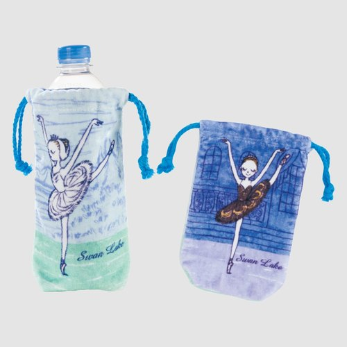 """Swan Lake"" black and white swan princess small pouch / mobile phone sets"