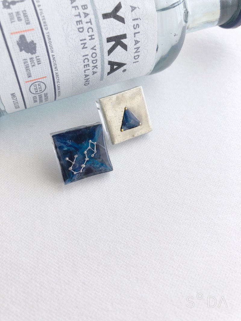 Scorpio 12 constellations Galaxy Star Earrings can be made by hand or ear clips