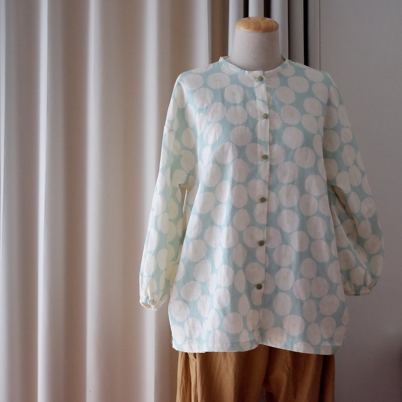 Mint green long sleeve wide shirt
