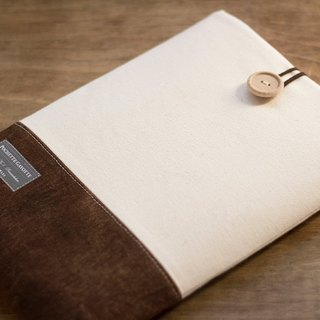 Laptop Case Macbook Cover PC Case / Cream & Brown