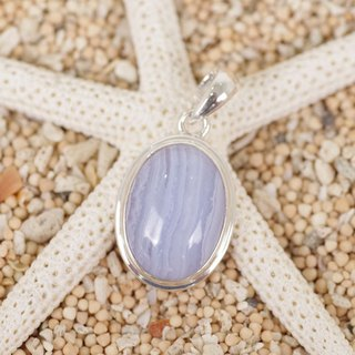 Blue lace agate pendant top